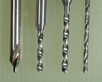 image of four drill bits aligned properly and evenly